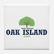 Oak Island NC Tile Coaster