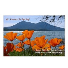 Postcards (Package of 8) - Mt. Konocti in Spring