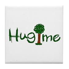 Hug Me (Trees) Tile Coaster