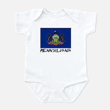 Pennsylvania Flag Infant Bodysuit