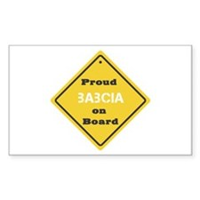 Proud Babcia on Board Rectangle Stickers