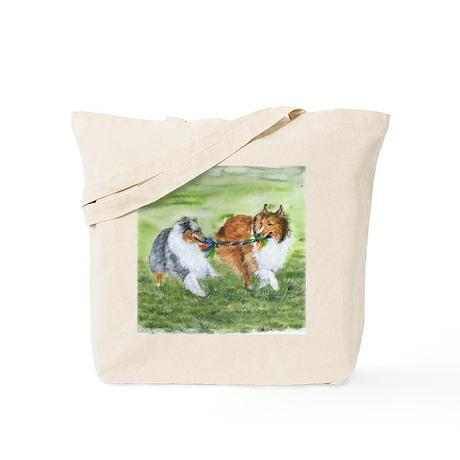 Shetland Sheepdogs At Play Tote Bag