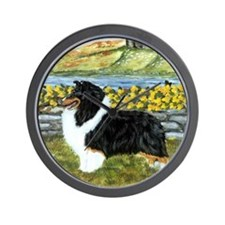 Shetland Sheepdog Tri Color Wall Clock