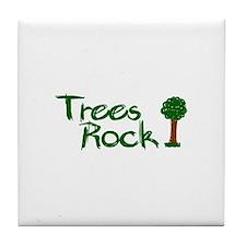 Trees Rock (Earth Day) Tile Coaster