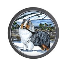 Shetland Sheepdog Blue Merle Wall Clock