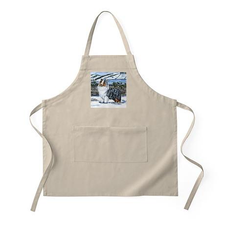 Shetland Sheepdog Blue Merle BBQ Apron