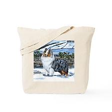 Shetland Sheepdog Blue Merle Tote Bag