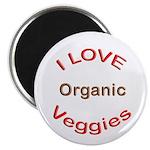 "I Love Organic Veggies 2.25"" Magnet (10 pack)"