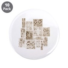 """Animal Tracks Collage 3.5"""" Button (10 pack)"""