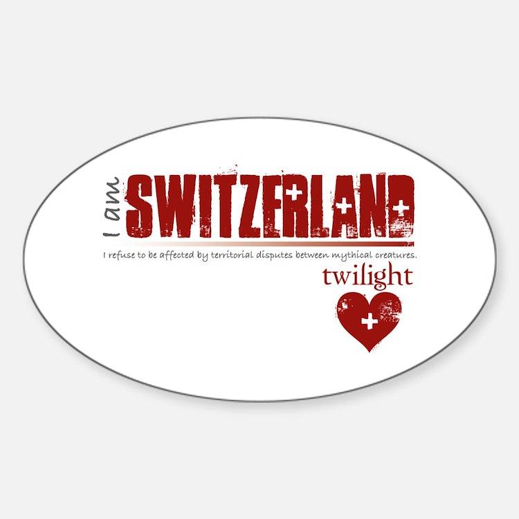 Twilight Switzerland Oval Decal