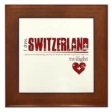 Twilight Switzerland Framed Tile