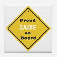 Proud Zadie on Board Tile Coaster