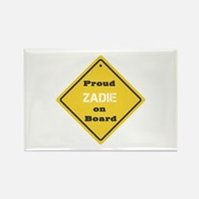 Proud Zadie on Board Rectangle Magnet