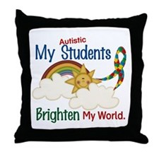 Brighten World 1 (A Students) Throw Pillow