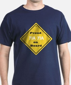 Proud YiaYia on Board T-Shirt