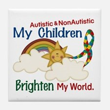 Brighten World 1 (A &Non/A Children) Tile Coaster