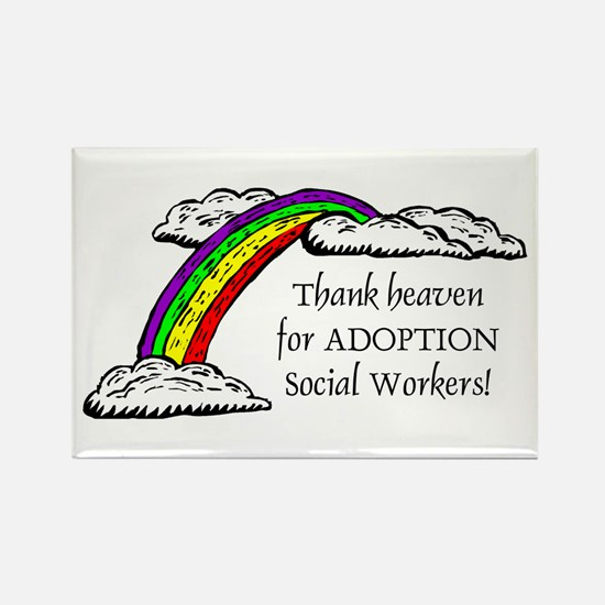 Thank Heaven ADOPTION Rectangle Magnet (10 pack)