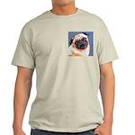 Blue Boy Pug Puppy Light T-Shirt