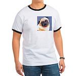 Blue Boy Pug Puppy Ringer T