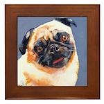 Blue Boy Pug Puppy Framed Tile