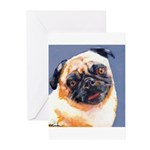 Blue Boy Pug Puppy Greeting Cards (Pk of 10)