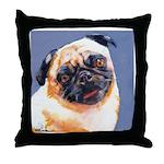 Blue Boy Pug Puppy Throw Pillow