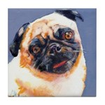 Blue Boy Pug Puppy Tile Coaster