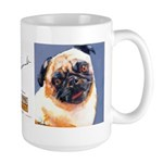 Blue Boy Pug Puppy Large Mug