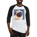 Blue Boy Pug Puppy Baseball Jersey