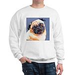 Blue Boy Pug Puppy Sweatshirt