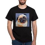 Blue Boy Pug Puppy Dark T-Shirt