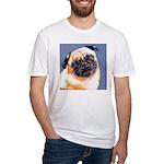 Blue Boy Pug Puppy Fitted T-Shirt