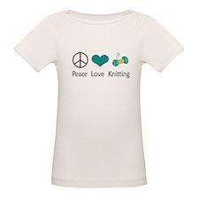 Peace Love Knitting Tee