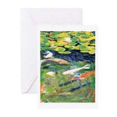 Riccoboni Koi Pond Greeting Cards (Pk of 10)