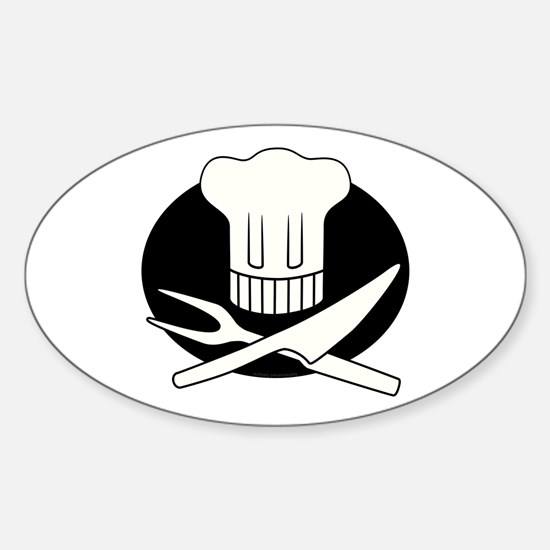 Pirate Chef Oval Decal