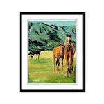 Horses Framed Panel Print