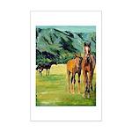 Horses Mini Poster Print