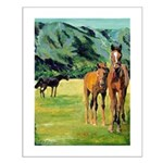 Horses Small Poster