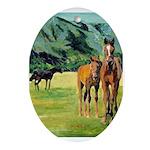 Horses Oval Ornament