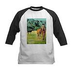 Horses Kids Baseball Jersey