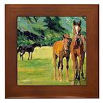 Horses Framed Tile