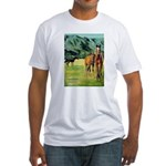 Horses Fitted T-Shirt