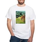 Horses White T-Shirt