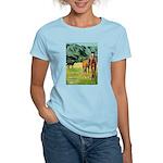 Horses Women's Pink T-Shirt