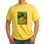 Horses Yellow T-Shirt
