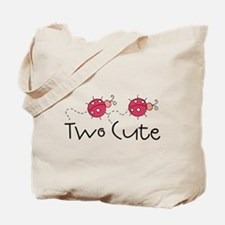 Two Cute Ladybugs Tote Bag
