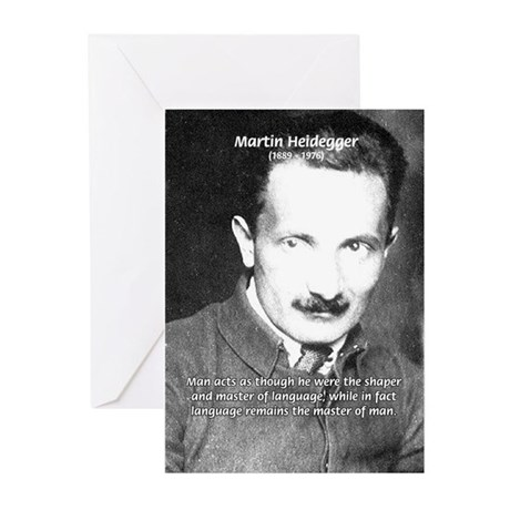 Man / Language: Heidegger Greeting Cards (Package