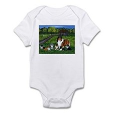 "Shetland Sheepdog ""the babysi Infant Bodysuit"