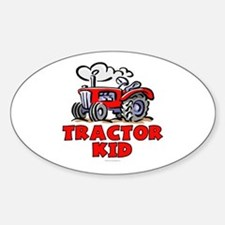 Red Tractor Kid Decal