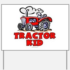 Red Tractor Kid Yard Sign